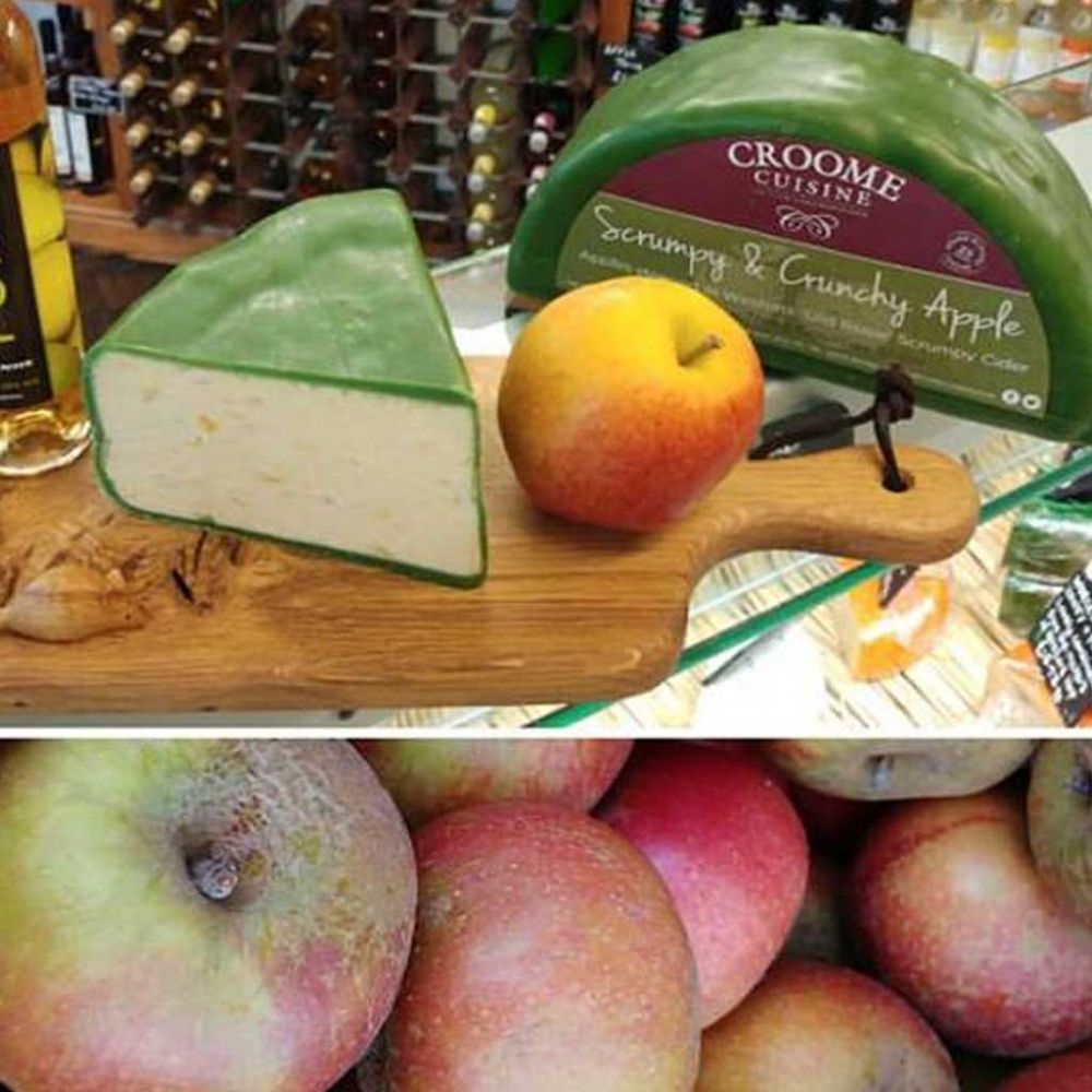 Scrumpy Cider and Apple Cheese, Cheddar with fruit in